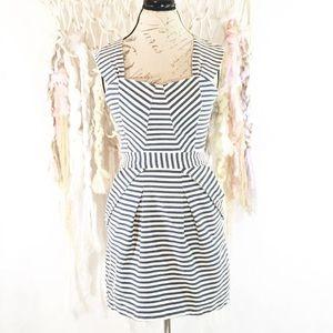 Pink Martini Blue & Cream striped dress